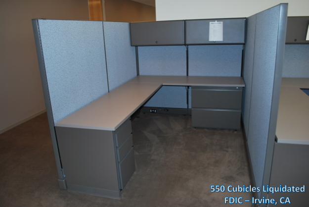 550 Cubicles Liquidated